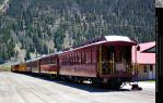 Antique Passenger Train Cars by DamselStock