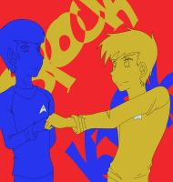 Kirk and Spock: Bro Fist by ryzum