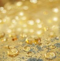 Golden Sparkling Water Drops by GinAngieLa