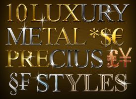 10 Luxury Metal Styles by RedEffect7
