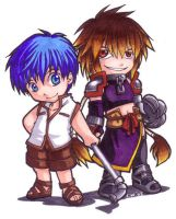 SO3: Chibi Fayt and Albel by songosai