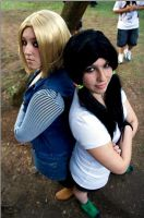 Cosplay Android 18 and Videl (DragonBall Z) by AndroideDezoito