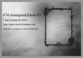 674 Steampunk Frame 05 by Tigers-stock