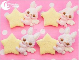 Dream fantasy bunnies Brooches by CuteMoonbunny