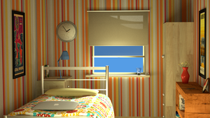 Blender - Bedroom by gb-arts
