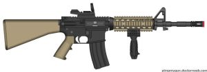 Airsoft DPMS Panther M16 Mod by Kweonza