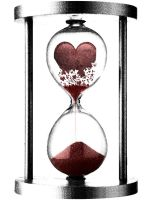Crumbling Heart-Hourglass by scribble14