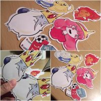 Adventure time stickers by LadyAsakura