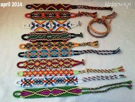 My bracelets made in April 2014 by Kleinevos70