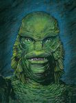 The Creature From The Black Lagoon color by DeevElliott
