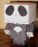 Skellington Jack Cubee by paperart