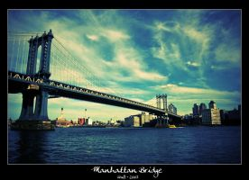 Manhattan Bridge by Frall