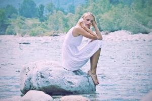 The Girl on the Blue River by lciam