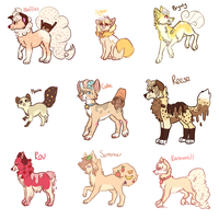 all my delicious animalssss by samiesaurus