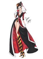 The Queen of Hearts in Haute Couture by frozen-winter-prince