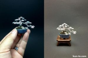 Minicascade wire bonsai tree by Ken To by KenToArt