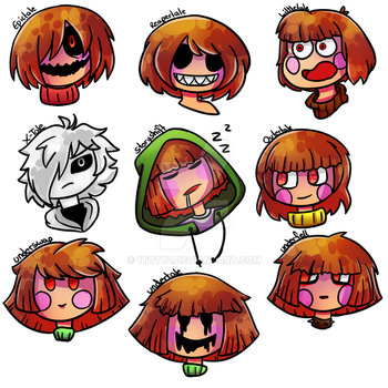 Chara - Undertale AUs by 1Toto1