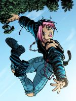 Gen13 Freefall Coloring by angieness