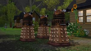 Daleks invade The Sims 3 by Cassini90125