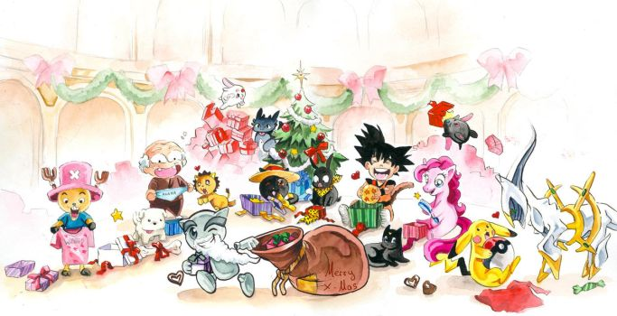 Fella and Friends say Merry X-Mas by Naschi