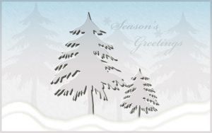 Season's Greetings Blue by Casperium