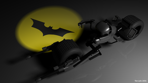 Maya 3D model - The Dark Knight 'Batpod' #1 by RiseOfChaos