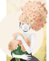 bouquet of hydrangeas by Dasha-Crawford