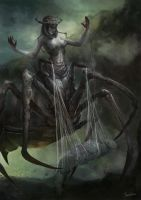 Arachne the Weaver Queen by JowieLimArt