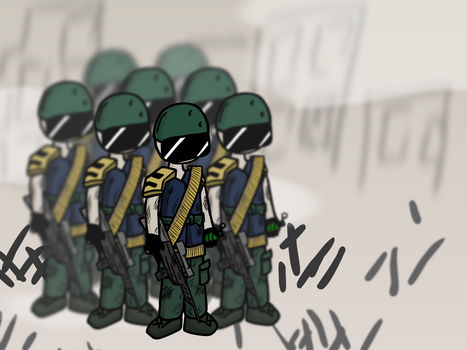 Concept art: Military Troop by Khrinx