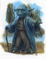 Yoda on Dagobah - finished color art by DavidRabbitte