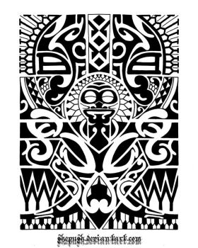 Lower arm tribal 1 by shepush