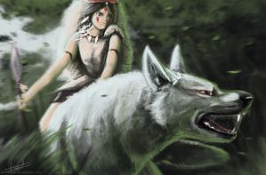 Princess Mononoke by yocif