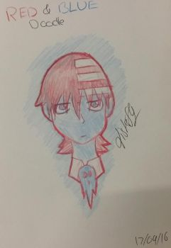Death the kid (red and blue  only ) by Fisherfly