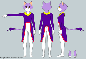 Blaze the Cat Ref Sheet - Clothed by King-Hauken