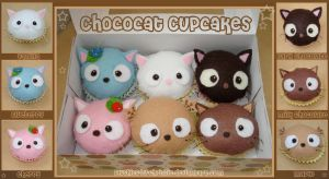 Chococat Cupcake Plushies by plushies-by-chrissie
