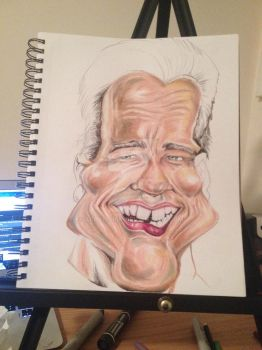 Process: Arnold Schwarzenegger Caricature 2 of 10 by AcrylicInk