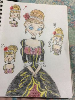 Request for KatKalis Beatrice The Golden Witch by moondancer150