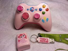 Pinkie Pie Xbox 360 Controller Commission by Nightowl3090