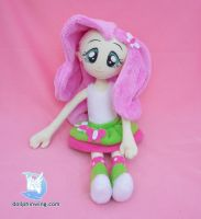 Fluttershy Equestria Girls Plush Doll by dollphinwing