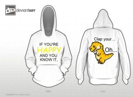 8 bit T-rex hoodie by Pashed-Smotatoes