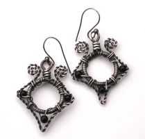 onyx sterling silver earrings by annie-jewelry