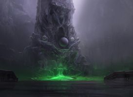 Magic: The Gathering Card - Temple of Malady by ScribblePadStudios