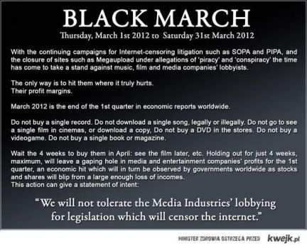 The Black March, the anti-antipiracy. by 6-Qubed