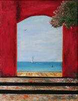 Window to the Sea by CarolynYM