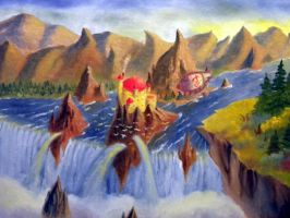 the Falls of Defender Valley by hcollazo2000