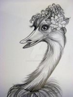 Jungle Gardenia Emu by HouseofChabrier