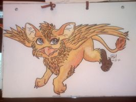 baby gryphon by beccahanks