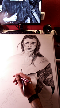 Arya Stark WIP by ChrisStoner