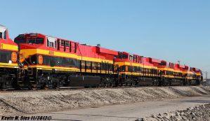 Factory Fresh Kansas City Southern Loco's @ E STL by EternalFlame1891