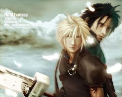 Zack Fair and Cloud by Cielrune